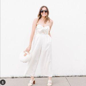 ASTR cream color jumpsuit